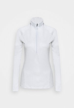 TECH ZIP TWIST - Sports shirt - halo gray