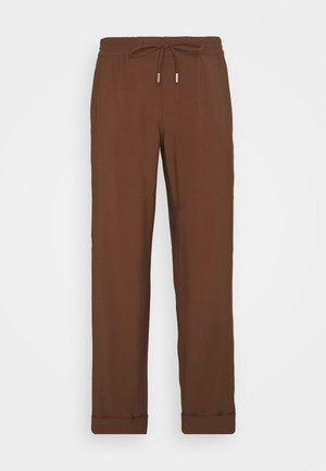 PANTS SMART JOGGING STYLE STRAIGHT LEG TURN UP - Spodnie materiałowe - chestnut brown