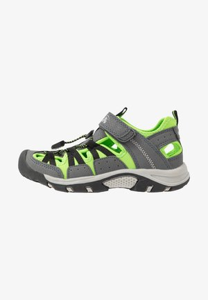 WILDCAT - Walking sandals - charcoal lime/charbon citron vert