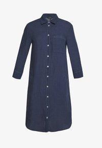 Marc O'Polo - DRESS TUNIQUE COLLAR WELT POCKETS SIDE SLITS - Shirt dress - dark blue - 4
