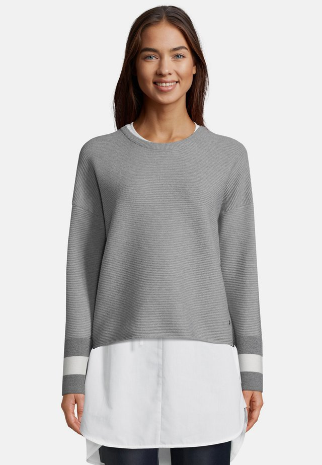 Jumper - silver/cream