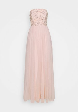 BANDEAU EMBELLISHED MAXI DRESS - Společenské šaty - pearl pink