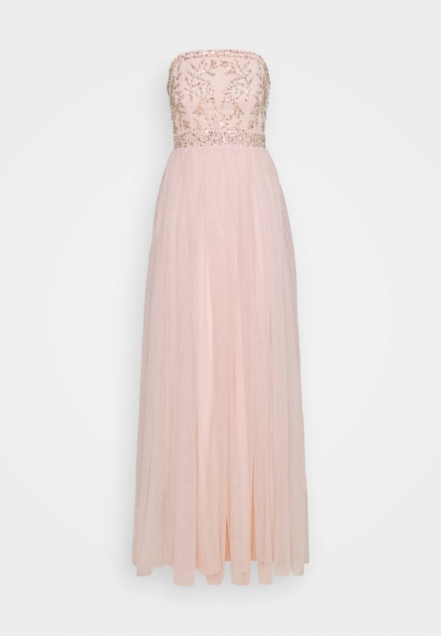 BANDEAU EMBELLISHED MAXI DRESS - Robe de cocktail - pearl pink