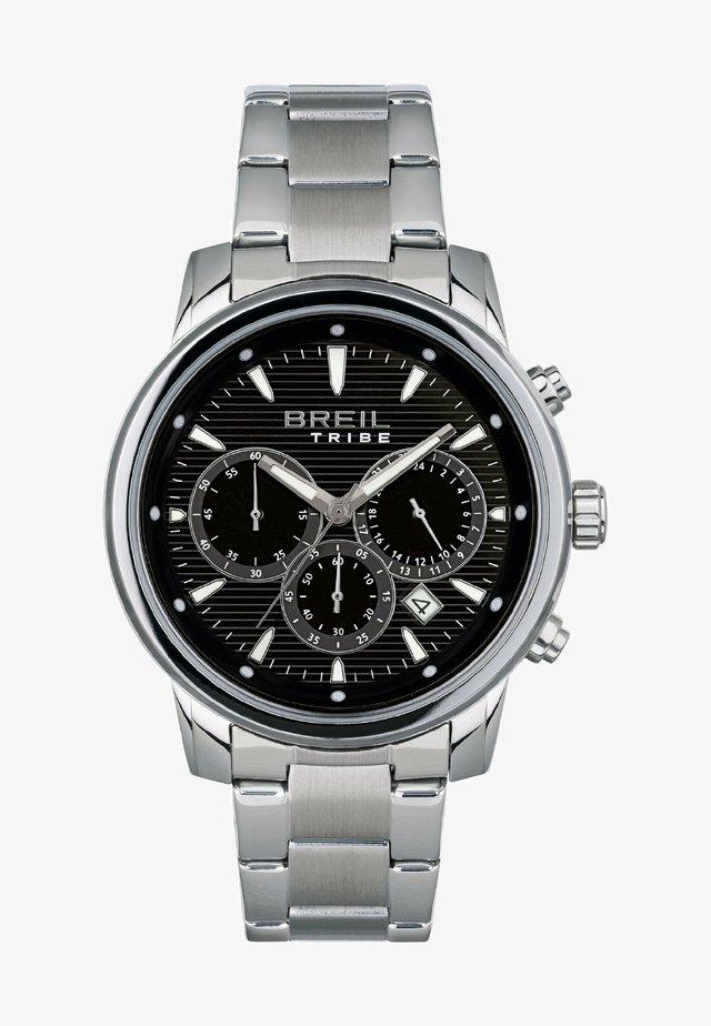 Cronografo - acciaio nero bianco