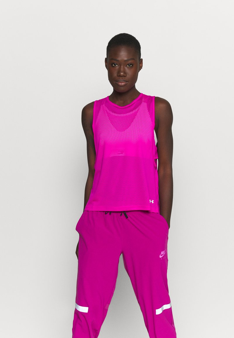 Under Armour - MUSCLE TANK - Funktionsshirt - meteor pink