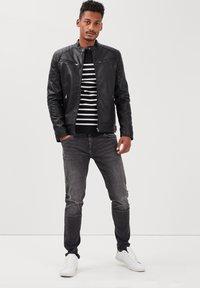BONOBO Jeans - Imitatieleren jas - noir - 1