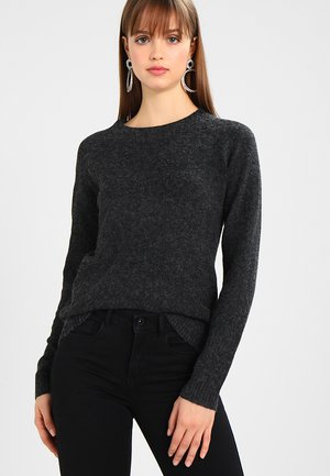 VMDOFFY O NECK - Strickpullover - black/melange
