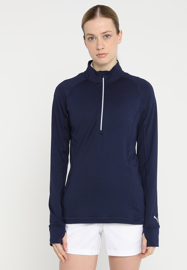 ROTATION ZIP - Sportshirt - peacoat