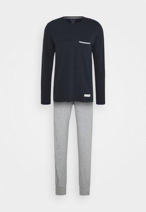 LOUNGE CREW NECK SET - Pyjama - nachtblau