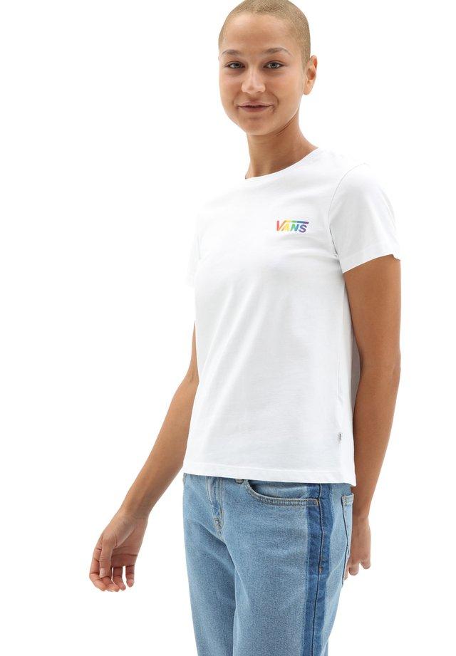 WM PRISM CREW II - T-shirt print - white
