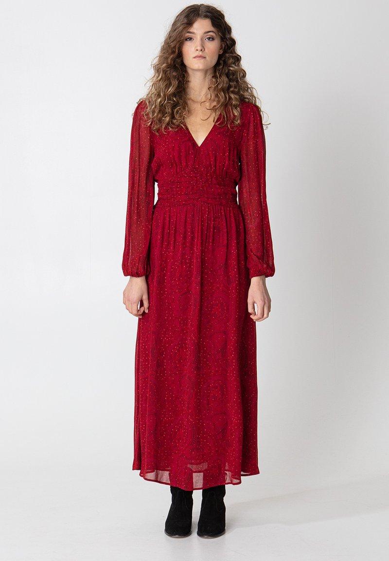 Indiska - VARJA - Maxi šaty - red