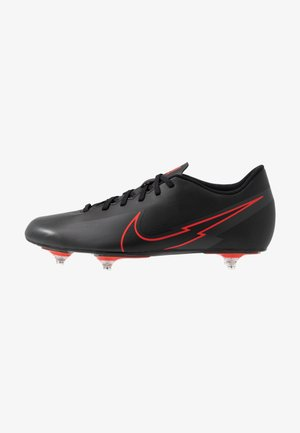 VAPOR 13 CLUB SG - Screw-in stud football boots - black/dark smoke grey