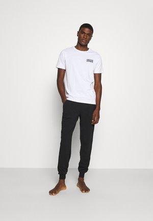 JACRETRO TEE 3 PACK - Undershirt - black/white/light grey melange