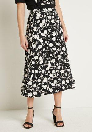 BYGENNIFER SKIRT - A-line skirt - black/white