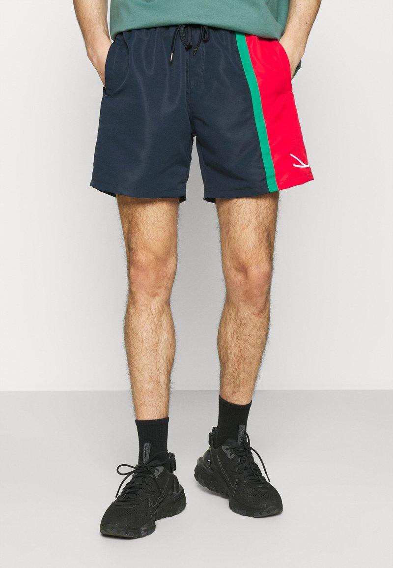 Karl Kani - SIGNATURE BLOCK - Shorts - navy