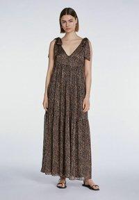 SET - Maxi dress - dark brown camel - 1