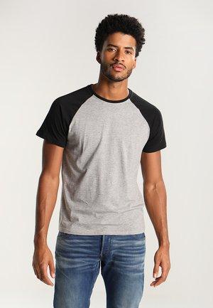 Print T-shirt - grey melange/black