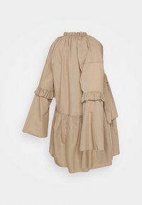 Missguided Maternity - RUFFLE PANEL DRESS - Day dress - brown - 1