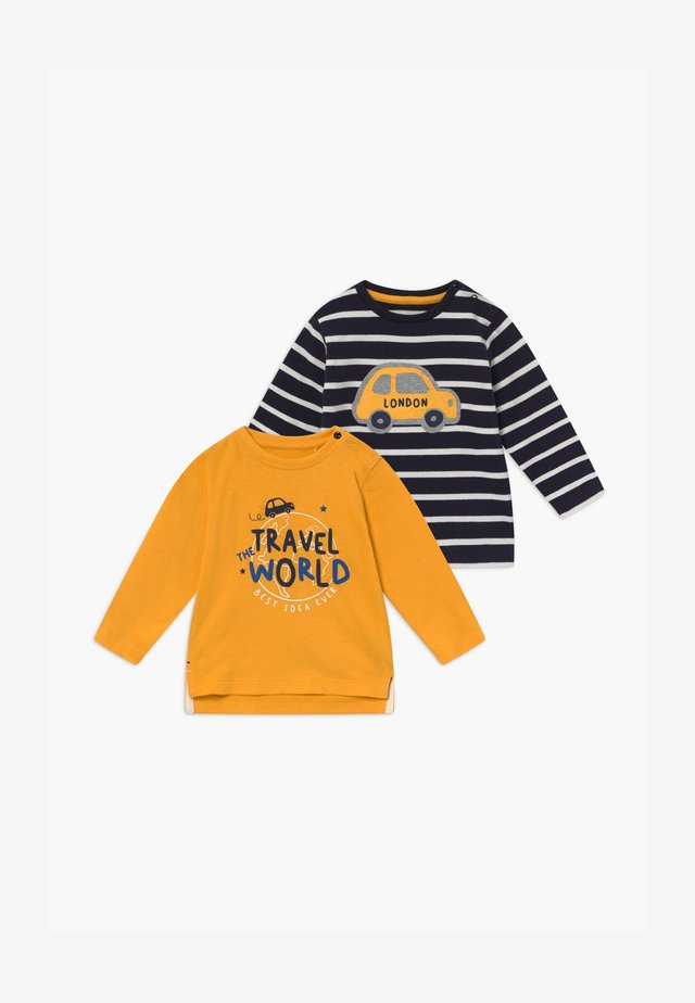 2 PACK - Longsleeve - dark blue / yellow