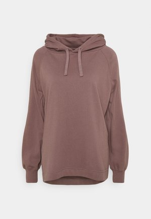 SIDE VENT OVERSIZED HOODIE - Sweat à capuche - burgundy