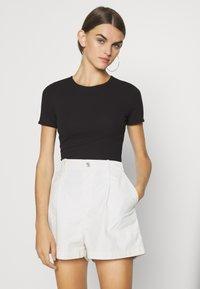 Even&Odd - Print T-shirt - white/black - 1