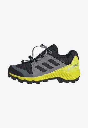 TERREX GTX UNISEX - Hiking shoes - core black/grey three/acid yellow