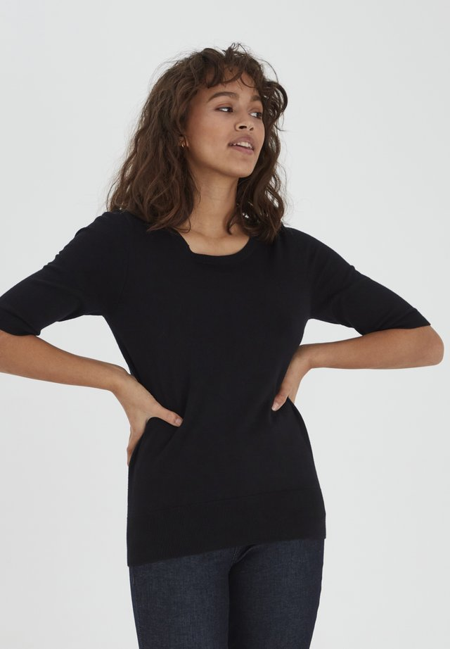 PZSARA - Camiseta estampada - black beauty