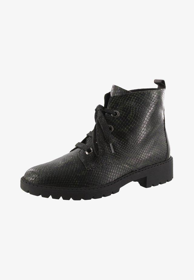 Ankle boots -  python grün