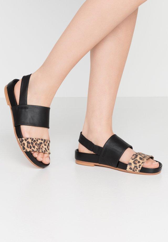 PURE STRAP - Sandals - brown