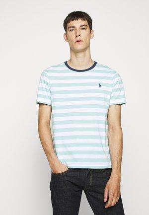 Print T-shirt - bayside green/white