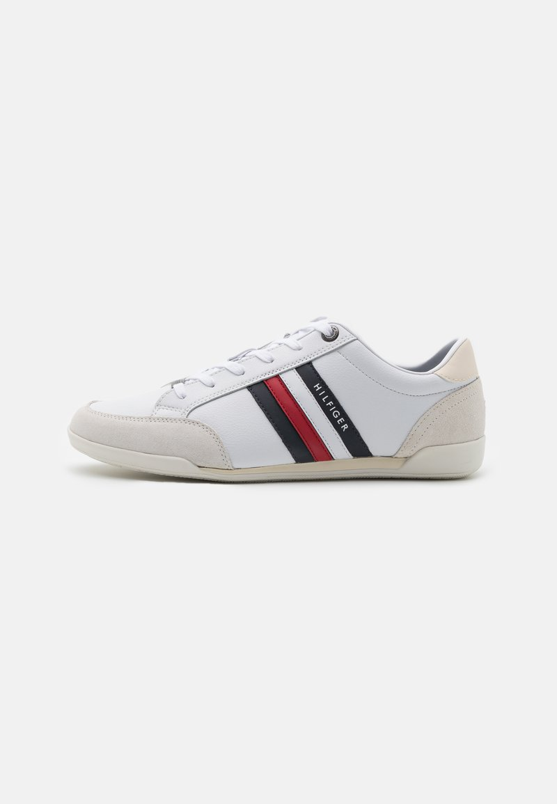 Tommy Hilfiger - CORPORATE MATERIAL MIX CUPSOLE - Sneakers basse - white