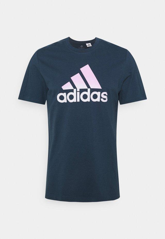 Print T-shirt - crew navy