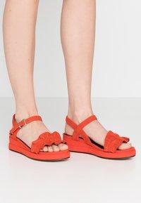 Tamaris - Platform sandals - flame - 0