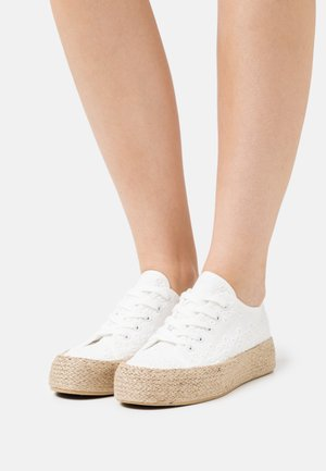 Casual lace-ups - white