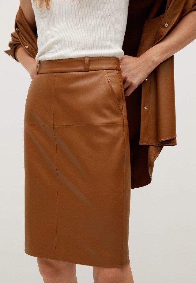 PENCIL - Pencil skirt - marron moyen