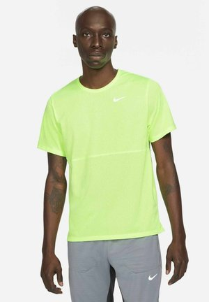 RUN TOP - Print T-shirt - ghost green/ghost green