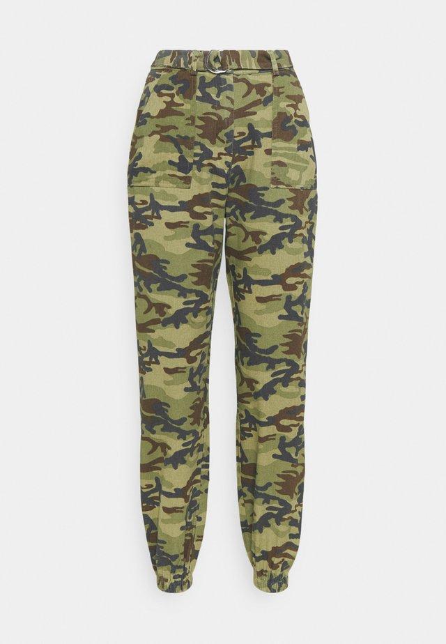 RING BELT TROUSER - Trousers - khaki