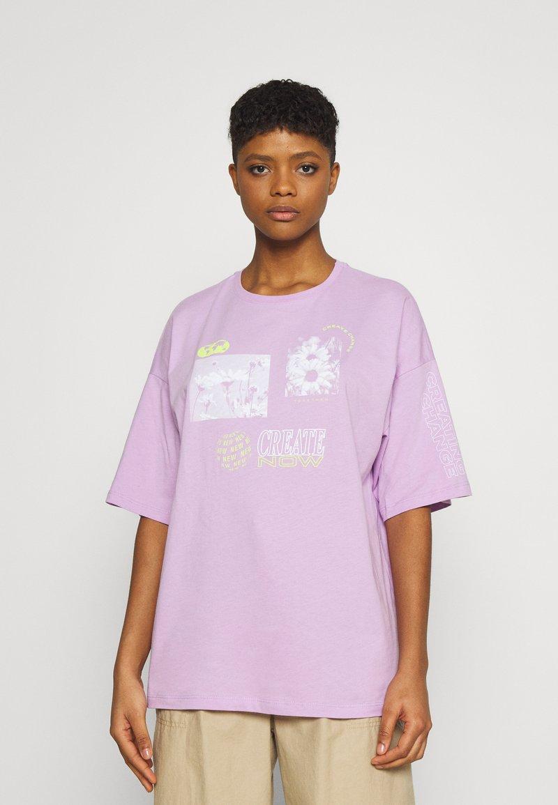 Even&Odd - T-shirt con stampa - lilac