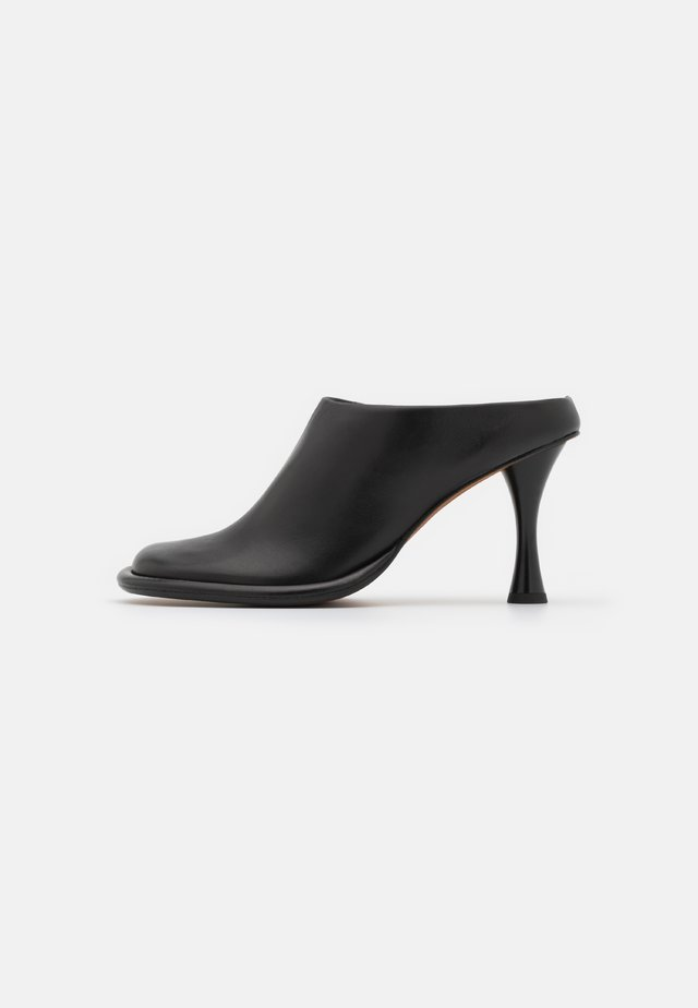 PIPE MULE - Heeled mules - black