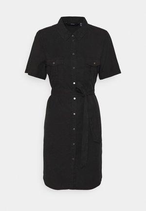 VMSILJA SHORT SHIRT DRESS - Denim dress - black