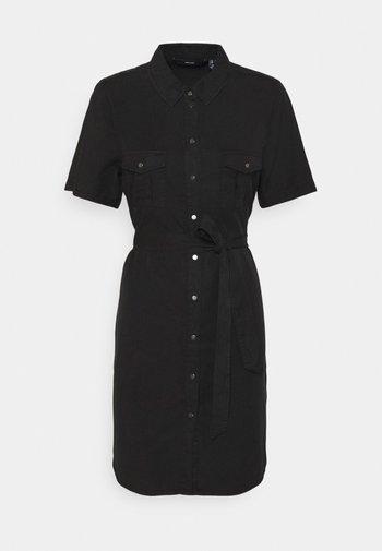 VMSILJA SHORT SHIRT DRESS - Vestido vaquero - black
