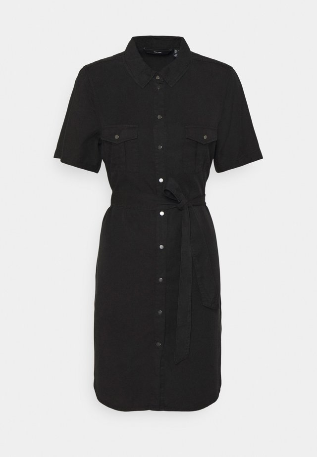 VMSILJA SHORT SHIRT DRESS - Sukienka jeansowa - black