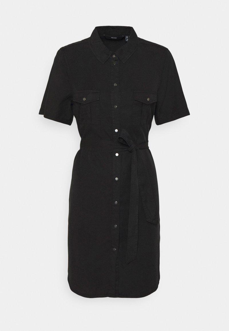Vero Moda - VMSILJA SHORT SHIRT DRESS - Vestido vaquero - black