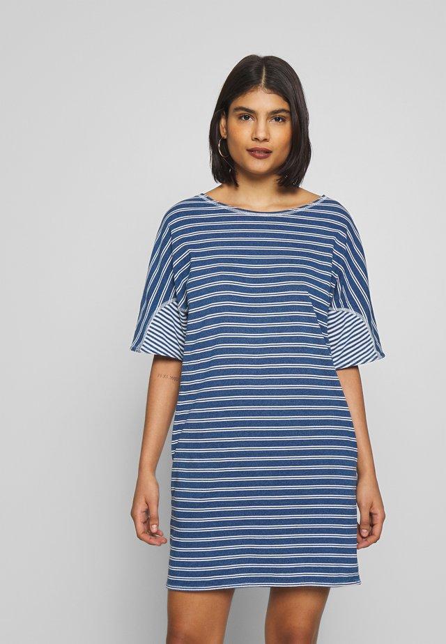 DRESS - Jerseykleid - blue/white