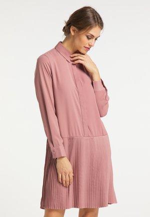 Vestido camisero - dunkelrosa