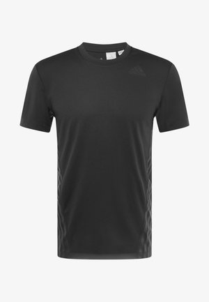 AEROREADY TRAINING SLIM SHORT SLEEVE TEE - Camiseta estampada - black