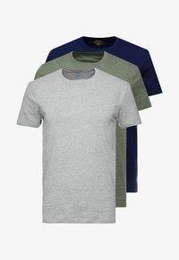 dark blue/mottled grey/khaki