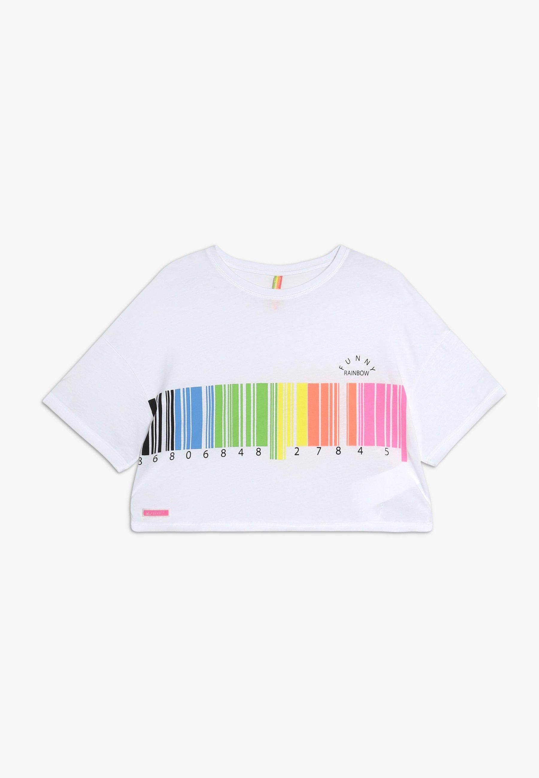 Kids GIRLS BOXY NEON BARCODE - Print T-shirt
