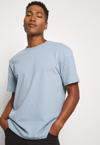 Topman - 3 PACK - Basic T-shirt - black/grey/blue - 5
