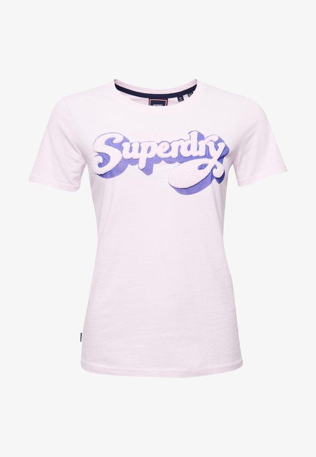 SHADOW - Print T-shirt - rose pink